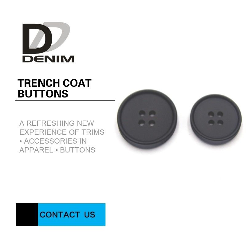 Shiny Unsaturated Polyester Trench Coat Buttons, Flat Pearl Buttons Test Lumayan pemasok