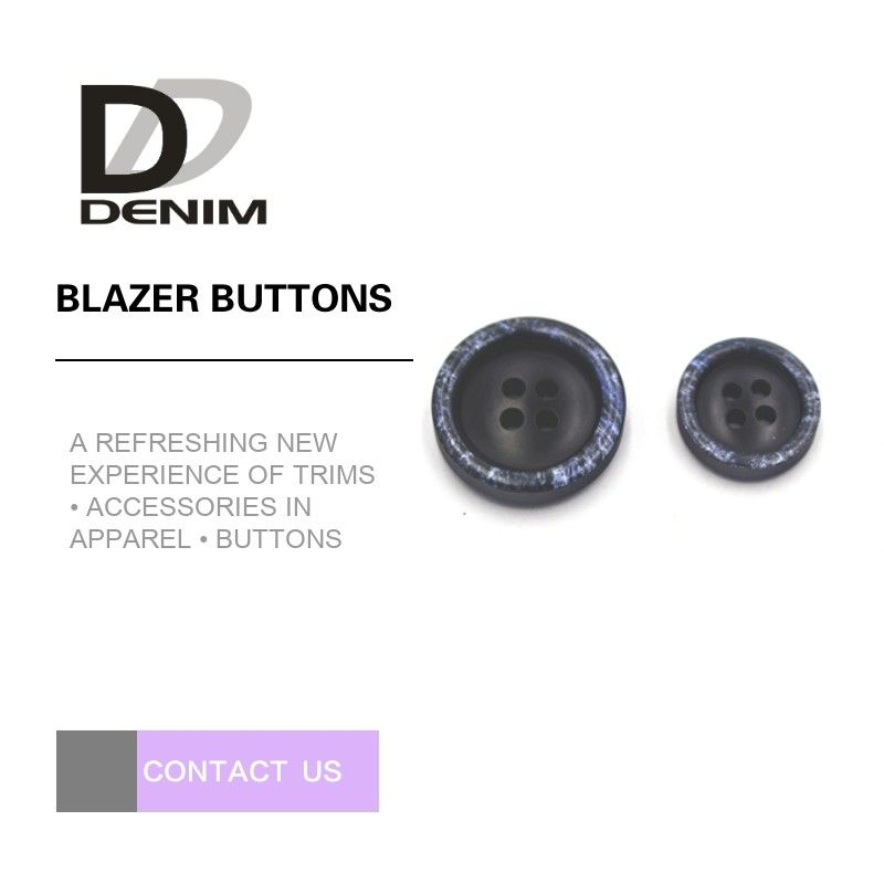 4 Lubang Snow Design Black Blazer Buttons, Custom Butel Buttons Testing Pass