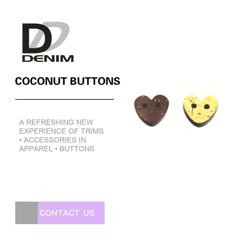 2 Lubang Natural Coconut Buttons Styles: Vintage, Novelty